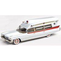 CADILLAC Guardian Ambulance, 1960, white/red