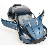 ASTON MARTIN One 77, saphire blue (resin with openable parts)