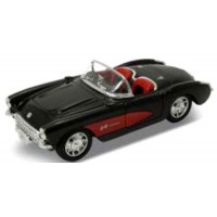 CHEVROLET Corvette Convertible, 1957, black/red