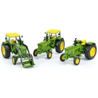 SET JOHN DEERE including 3120; 3120 with cabin; 3120 with front loader (limited 500)