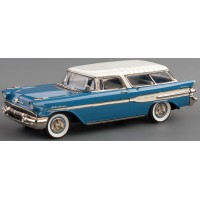 PONTIAC Safari 2-door Station Wagon, 1957, fontaine blue/kenya ivory