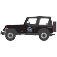 1994 Jeep Wrangler (YJ) San Francisco Police Department *Hot Pursuit Series 32*, black