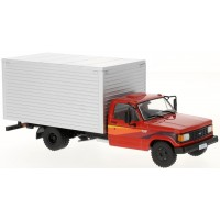 CHEVROLET D-40 Box truck, 1985, red/silver