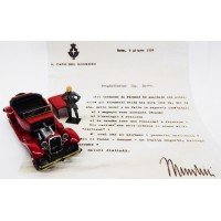 ALFA ROMEO 1750 Torpedo (with Mussolini figure and letter)