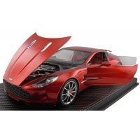 ASTON MARTIN One 77, transparent red (resin with openable parts)