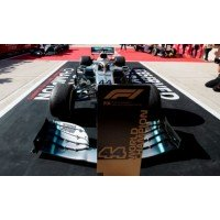MERCEDES-AMG F1 W10 EQ Power+ GP US'19 #44, 2nd & WorldChampion L.Hamilton (including special base plate & pit board)